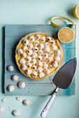 Lemon tart with lemon curd and meringue top