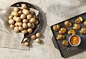 'Lady Bianca' Kartoffeln aus dem Ofen, mit Dip
