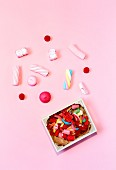 Sweets, colorful candies with colorful backgrounds