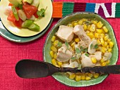 Mexican lime soup with chicken and coriander