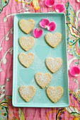 Lemon and Coconut Hearts