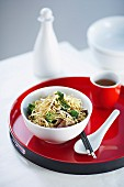 Stir-fried Egg Noodles with Broccoli and Mushrooms