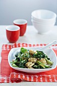 Stir-fried Calamari with Baby Pak Choy