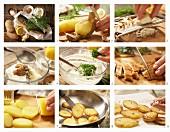 How to prepare potato crostini with horseradish and smoked mackerel