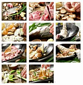How to prepare braised fish with pork, shiitake mushrooms and garlic