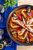 A classic paella in Andalusia, Spain