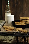 Wholemeal biscuits with millet
