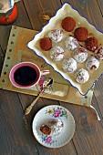 Hazelnut and coffee truffles