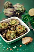 Artichokes with a herb filling