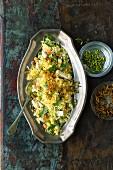 Vegetarian vegetable biryani (India)