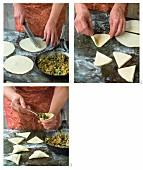 Samosas mit Lammfüllung (Indien) zubereiten