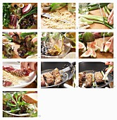 How to make a lamb fillet with figs, spring onions, pine nuts and a salad