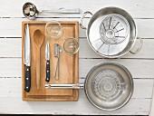 Küchenutensilien für die Chutneyzubereitung