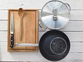 Kitchen utensils for preparing millet