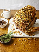 Roasted turkey crown with crunchy sourdough breadcrumbs, thyme leaves and orange zest