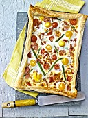Tomato, Egg and Asparagus Tart