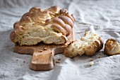 Sweet vegan braided yeast bread