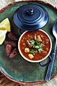 Harira soup with lentils and lamb (Morocco)
