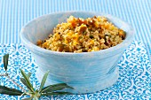 Pearl barley salad with tomatoes