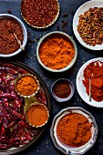 Chilli spices in a bowl