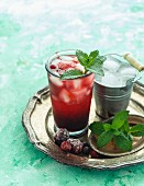 Mixed berries spritzer