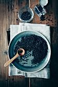 Black lentills