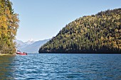 A canoe tour on Clearwater Lake in the Wells Gray Park, British Columbia (Canada)