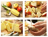 How to make apple and pineapple juice with ginger