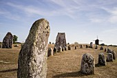 Stone circles on the island of Öland, southern Sweden
