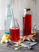 Elderberry shrub with ginger