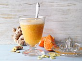 Mandarin smoothie with ginger