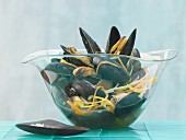 Asian-style mussels steamed with Thai ginger, star anise and vegetables