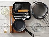 Kitchen utensils for making a noodle salad
