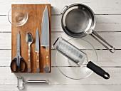 Kitchen utensils for making a Thai salad
