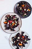Lentil and red beet salad