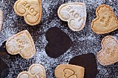 Shortbread biscuits for Valentine's Day