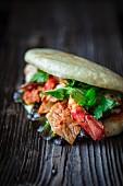 Bao-Burger mit Garnelen