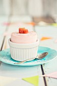 Rhubarb ice cream parfait