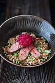 Ramen soup with duck (Asia)