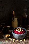 Red beet hummus