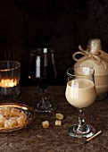 Homemade gingerbread liqueur