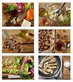 Low Fat Caesar Salad mit Hähnchenstreifen zubereiten