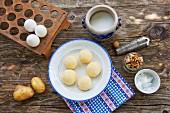 Kartoffelknödel mit Zutaten