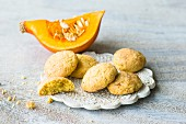 Quick pumpkin biscuits with spices