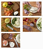 How to make wholegrain rye bread with chervil cream cheese and smoked salmon