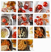 How to prepare lentil rice with chicken slices