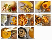 Pumpkin soup being prepared