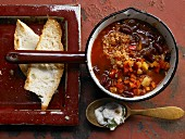 Chilli con carne with bulgur wheat