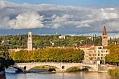 View of the Ponte della Vittoria in Verona, Italy