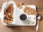 Lactose-free macadamia brittle